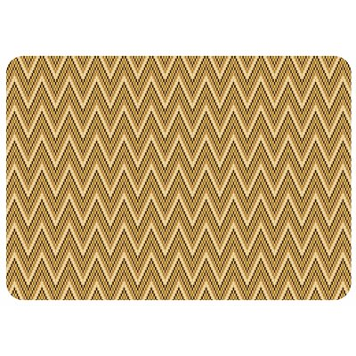 Swofford Chevron Kitchen Mat Rug Size: Rectangle 22 x 52, Color: Cashew