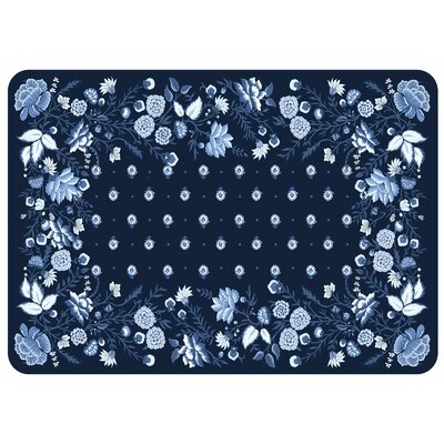 Bulwell Favenay Kitchen Mat Color: Cobalt