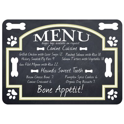 Bulwell English Pet Bistro Menu Kitchen Mat