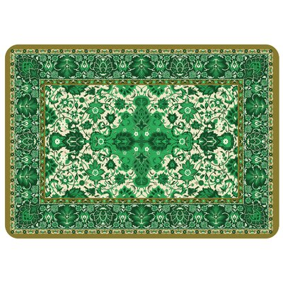 Bulwell Tabriz Kitchen Mat Color: Green