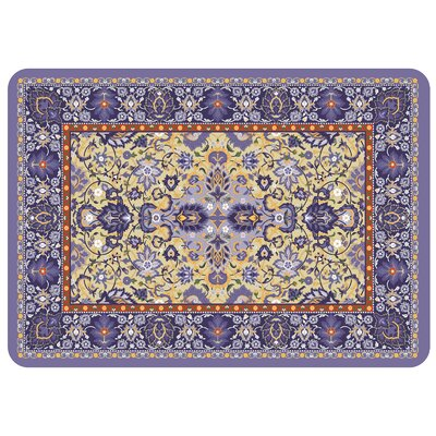 Bulwell Tabriz Kitchen Mat Color: Navy