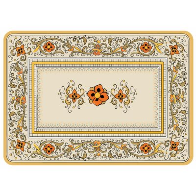 Swofford Rectangle Floral Kitchen Mat Color: Cashew