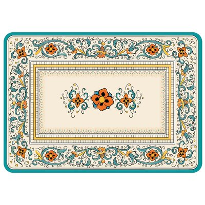 Bulwell Spring Porto Kitchen Mat Color: Tuscan Blue