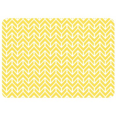 Swofford Rectangle Chevron Kitchen Mat Color: Yellow