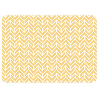 Swofford Rectangle Chevron Kitchen Mat Color: Cashew