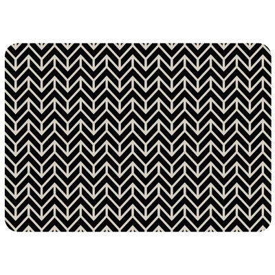 Swofford Rectangle Chevron Kitchen Mat Color: Ebony
