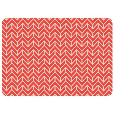 Swofford Rectangle Chevron Kitchen Mat Color: Red