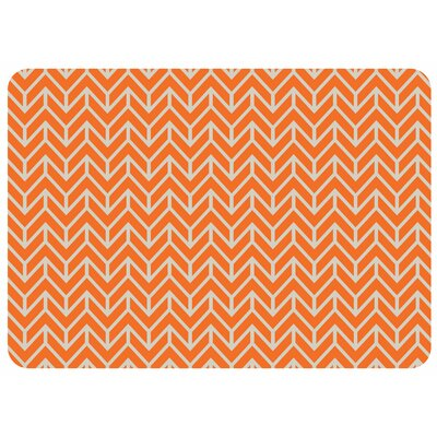 Swofford Rectangle Chevron Kitchen Mat Color: Tangerine