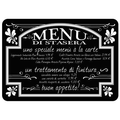 Swofford Italian Bistro Menu Kitchen Mat