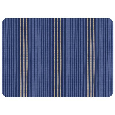 Swofford Hand Painted Stripe Kitchen Mat Color: Blue
