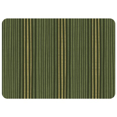Swofford Hand Painted Stripe Kitchen Mat Color: Forest Green