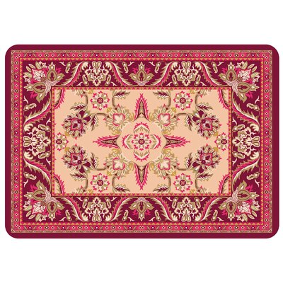 Swofford Rectangle Kitchen Mat Color: Red