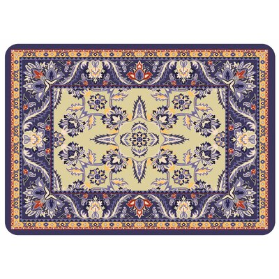 Bulwell Siam Kitchen Mat Color: Navy