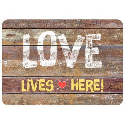 Swofford Love Rustic Sign Doormat