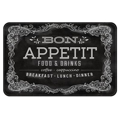 Swofford Blackboard Menu Kitchen Mat