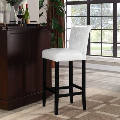 Abbate 31 Bar Stool Upholstery: White