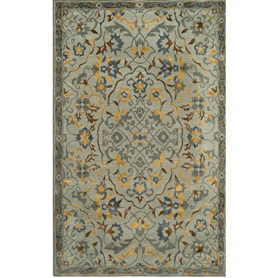 Hodgson Hand-Tufted Gray/Gold Area Rug Rug Size: 4 x 6
