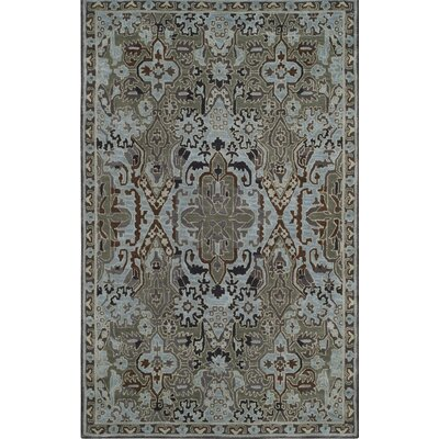 Hodgson Hand-Tufted Light Blue/Sage Area Rug Rug Size: Rectangle 4 x 6