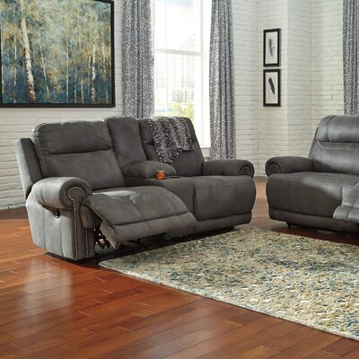 Culver 2 Seat Reclining Sofa Upholstery: Gray, Type: Power