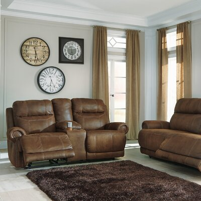 Culver 2 Seat Reclining Sofa Type: Power, Upholstery: Brown