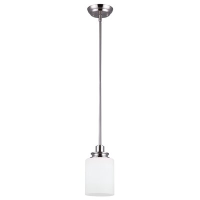 Abingdon 1-Light Mini Pendant Finish: Brushed Nickel