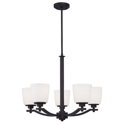 Benfield 5-Light Shaded Chandelier Finish: Oil Rubbed Bronze