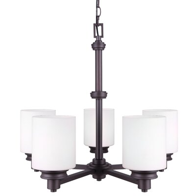 Slocumb 5-Light Shaded Chandelier Finish: Oil Rubbed Bronze