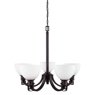 Abernathy 5-Light Shaded Chandelier