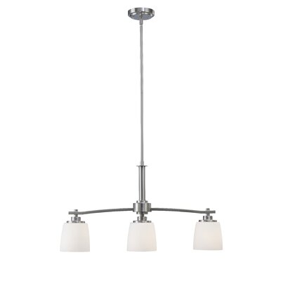 Benfield 3-Light Semi Flush Mount Finish: Brushed Nickel