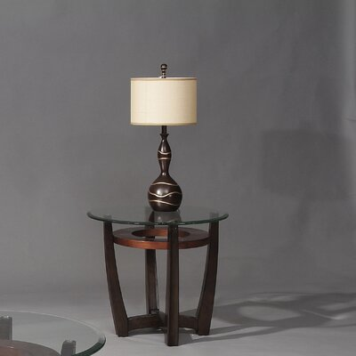 Berghoff Round End Table Base in Rich Cappuccino