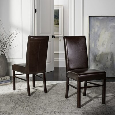 Remick Parsons Chair I Upholstery: Brown