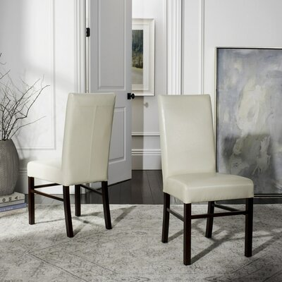 Remick Parsons Chair I Upholstery: Soft Cream