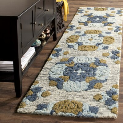 Abrahamic Hand-Tufted Area Rug Rug Size: Square 6
