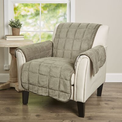 Burnham Box Cushion Armchair Slipcover Color: Olive