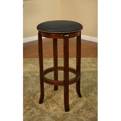 Hardywood Park 24 Swivel Bar Stool Finish: English Tudor