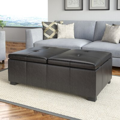 Grissom Leather Double Storage Ottoman