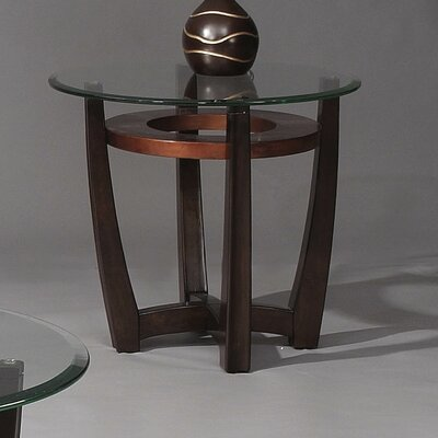 Berghoff Round End Table in Rich Cappuccino