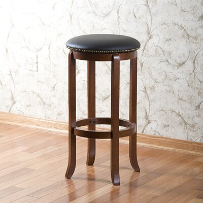 Hardywood Park 24 Swivel Bar Stool Finish: Walnut