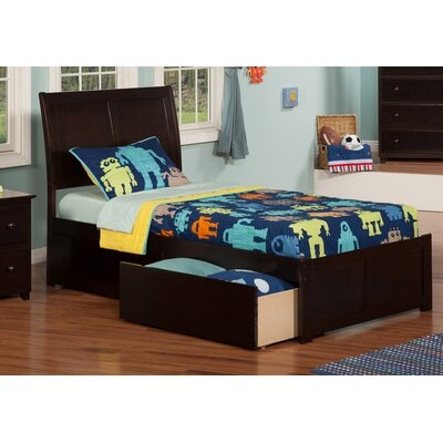 Ahoghill Extra Long Twin Mates & Captains Bed with Storage Color: Espresso