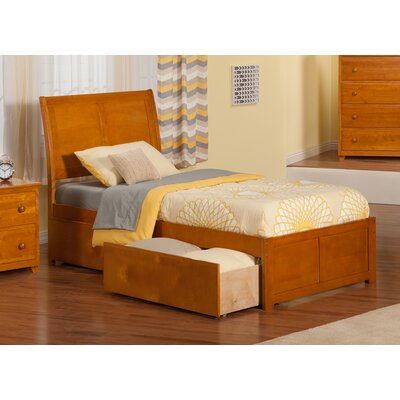 Ahoghill Extra Long Twin Sleigh Bed with Storage Finish: Caramel Latte