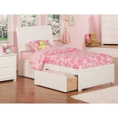 Ahoghill Extra Long Twin Mates & Captains Bed with Storage Color: White