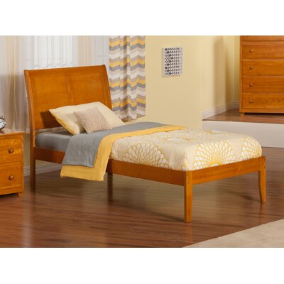 Ahoghill Extra Long Twin Sleigh Bed Finish: Caramel Latte
