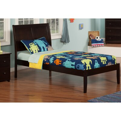 Ahoghill Extra Long Twin Sleigh Bed Color: Espresso