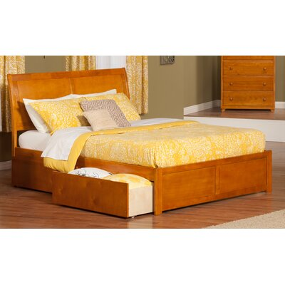 Wrington King Storage Platform Bed Color: Caramel Latte