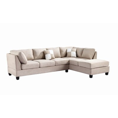 Childress Sectional Upholstery: Suede Vanilla