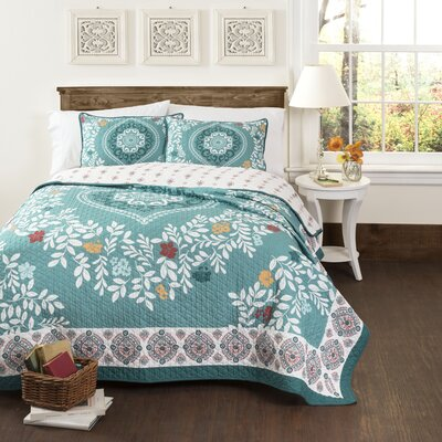 Buffalo 3 Piece Reversible Quilt Set Size: King