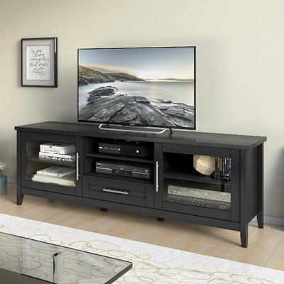 Starkville 59-71 TV Stand Color: Black, Width of TV Stand: 24 H x 71 W x 16 D