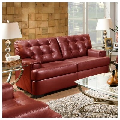 Simmons Upholstery Cates Loveseat Upholstery: Cardinal