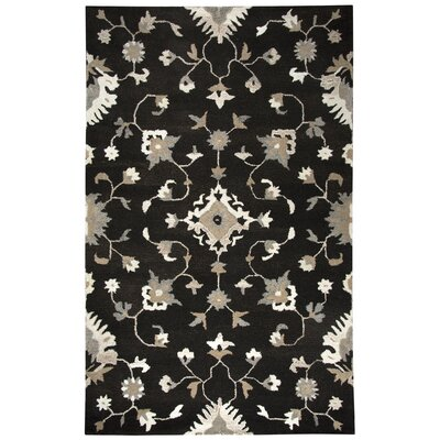 Allerton Hand-Tufted Brown/Black Area Rug Rug Size: 5 x 8