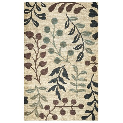 Barrett Hand-Woven Natural Area Rug Size: 5 x 8